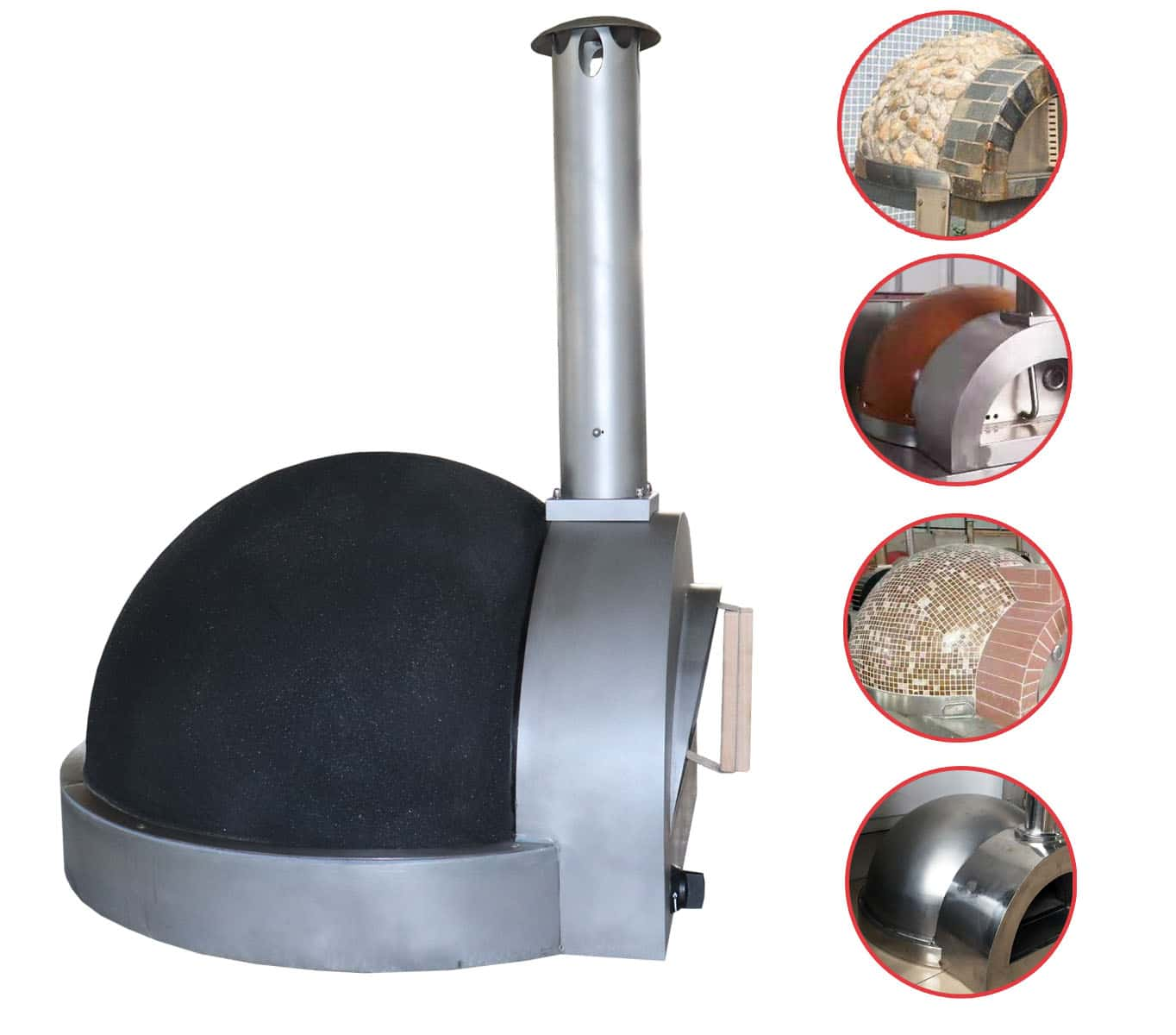 Gas clay oven different finish