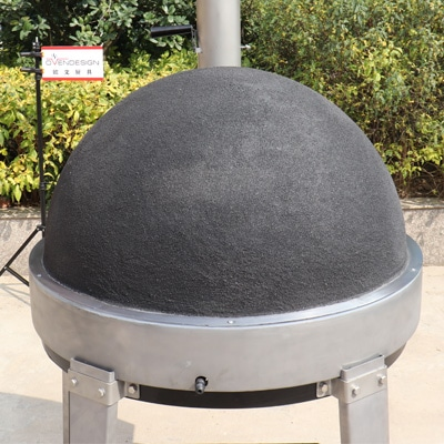 gas clay pizza oven-No Crack
